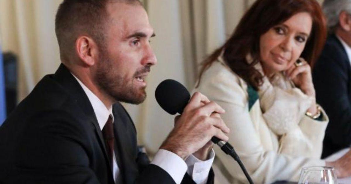 Cristina y el ministro de economia, Guzman